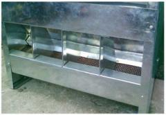 Комбикормушка бункерная с пылеулавливателем для
