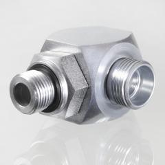 Поворотное резьбовое соединение, угол 90°, подшипник скольжения - GVM 90 H
