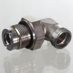 Поворотное резьбовое соединение, угол 90°, подшипник скольжения - GVM 90