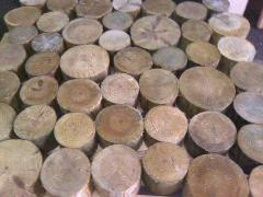 Bar a round timber from an ash-tree