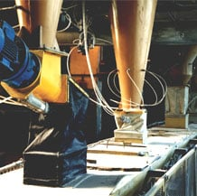 The automated line for preparation of glass