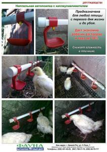 Ниппельные поилки для любой птицы, Украина, Россия