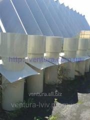 Exhaust air shaft for breeding complexes
