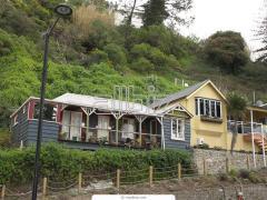 Rural houses wooden, fellings