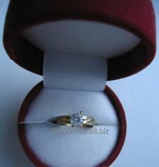 Кольцо с камнем. Бижутерия.