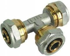 Tee brass reducing (connecting) Du 16х16х16