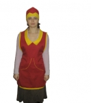 He apron of the seller, overalls for supermarkets,