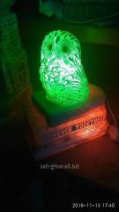 "Лампа ночник из соли ""Совёнок на"