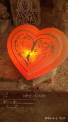 """Соляная лампа """"Сердце с гравировкой"""""""