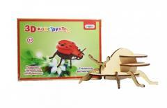 """3D деревянный конструктор """"Божья коровка"""