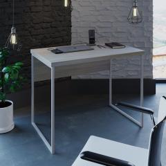 Компьютерный стол Fenster Вега 2 Белый 75,5x100x60 столешница Дуб Сонома