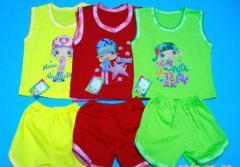 Одежда детская. Костюм ДЕВОЧКА: майка и шорты