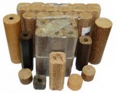 Брикеты топливные,пеллеты, из древесины, Брикеты