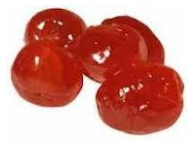 Candied fruits are cherry, candied fruits cherry