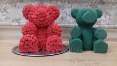 Мишки из роз ведмедик з 3d роз заготовки макети
