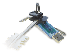 Electronic usb-token of uaToken with RFID a tag
