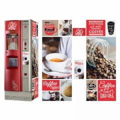 Брендированная наклейка на кофейный автомат Saeco
