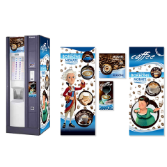 Брендированная наклейка на кофейный автомат Saeco Group 700 NE, синий