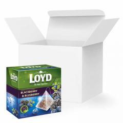 Чай в пакетиках пирамидках LOYD, ежевика и