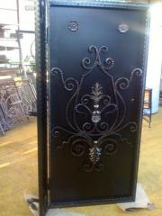 Двери металлические с накладным рисунком, Двери