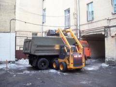 Вывоз снега в Киеве. Уборка снега.