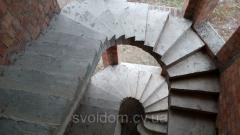 Лестницы бетонные прямые и винтовые