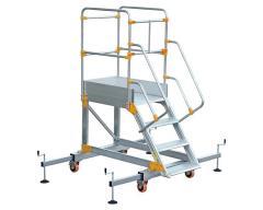 Aluminum ladder platform VIRASTAR 3 + 1 stages