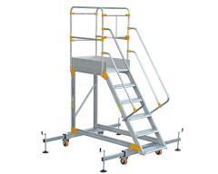 Aluminum ladder platform VIRASTAR 5 + 1 stages