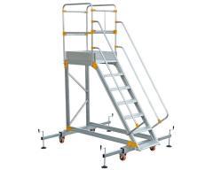 Aluminum ladder platform VIRASTAR 6 + 1 stages