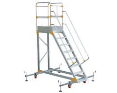 Aluminum ladder platform VIRASTAR 7 + 1 stages