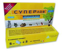 Glue trap against rodents, spiders, snakes, ants