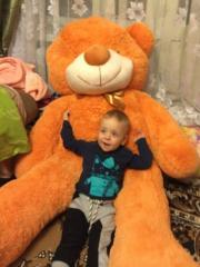 Огромный плюшевый медведь Тедди: карамельный 200