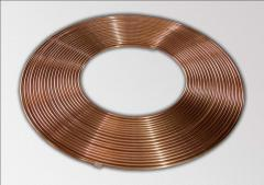 Pipe copper for refrigerating equipment and
