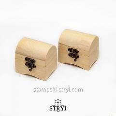 Сундук деревянная заготовка, дерево липа, размер - 70 * 47 * 65 мм, от STRYI под резьбу