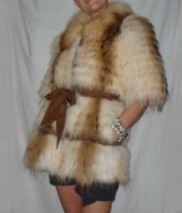 Fur coat (vest) from the Canadian raccoon extended