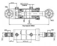 Гидроцилиндр ЦГ-125.50х400.11