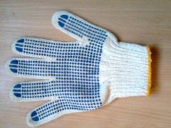 Перчатки защитные с точкой