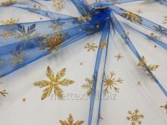 Еврофатин Снежинки глиттер №458 с золотом