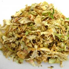 The cabbage is dried