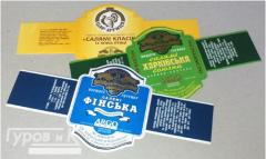 Labels self-adhesive for foodstuff.