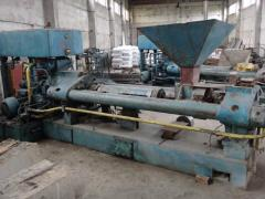 Press hydraulic for production of briquettes of