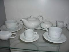 Tea cups with a saucer for bars, cafe, restaurants