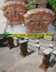 Лавка бетонная, ножка скамейки стойка для лавочки