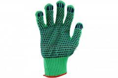 Перчатки Китай - синтетика зеленая с точкой