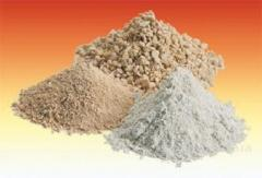 Chamotte fire-resistant ground for filling of