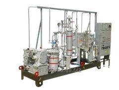 Installation of preparation of emulsions of
