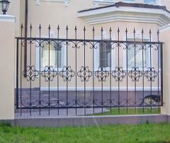 Решётчатый забор (стальной пруток или кованый