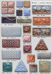 Плитка керамическая крупнорельефная, декоративные