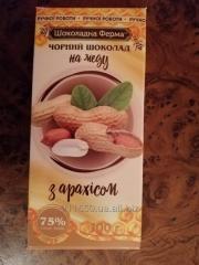 Шоколад  черный на меду с арахисом ручной работы