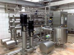 The equipment for production of dairy products